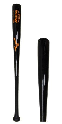 Mizuno Bamboo Elite Wood Baseball Bat, Black/Orange, 31-Inch