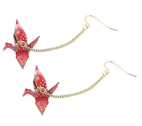 CutieJewelry Origami Crane Bird Dangle for Women or Girls Cute Pretty Earrings -