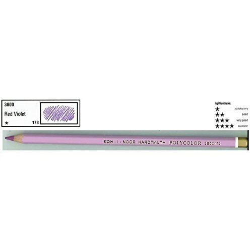 Lápis de Cor Koh-I-Noor Polycolor 3800/178 Reddish Violet