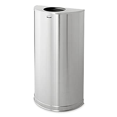 Rubbermaid Commercial Products Half-Round Steel Trash Can