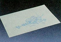 Banta Tidi Tidi Bath Mat White/Blue Soft Shell Print 14 1/2X20'' Disposable - Case of 500