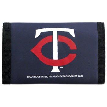 MLB Minnesota Twins Nylon Trifold Wallet Twins Baseball Gear