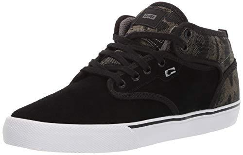 Globe Men's Motley Mid Skate Shoe camo Knit/Black 9 M - Camo Black Suede