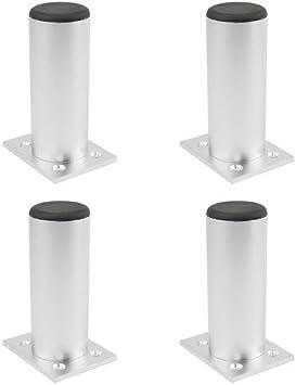 Furniture legs Patas De Aluminio para Muebles Patas De Sof/á Patas De Ajuste del Gabinete Patas De Mesa Patas De Mesa Patas De Apoyo Ajustable 4 Juegos