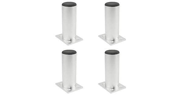 Patas para Mueble de Metal,para Mesa de T/é-TV Gabinete,Tri/ángulo Patas de Cama,Hierro,Oro//Negro,Accesorios del Hardware,4 Pack