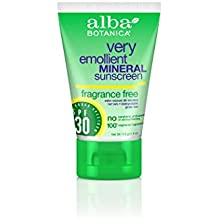 Alba Botanica Very Emollient Fragrance Free SPF 30 Mineral Sunscreen 4 oz