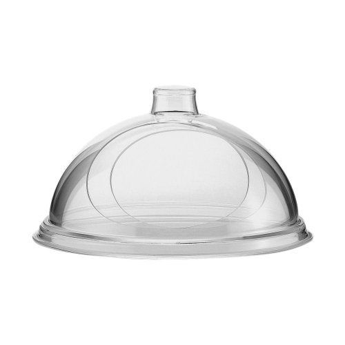 "Cal-Mil 301-12 Turn N Serve Gourmet Cover, 12"" D x 5.5"" H, Clear"