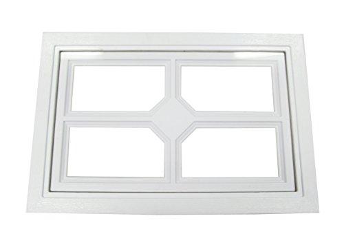 Garage Door Windows Square Design w/Cross (Garage Door Replacement Glass)