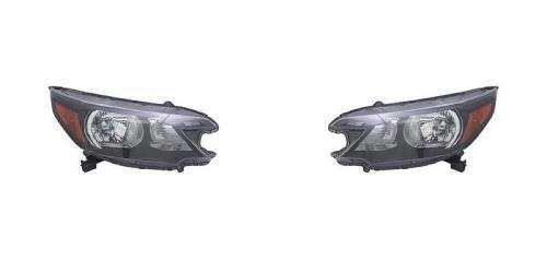 Go-Parts PAIR/SET OE Replacement for 2012-2014 Honda CR-V Front Headlights Headlamps Assemblies Front Housing/Lens / Cover - Left & Right (Driver & Passenger) Side for Honda CR-V