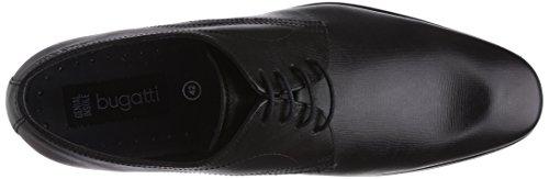 Bugatti U0809PR1 Herren Derby Schnürhalbschuhe Schwarz (schwarz 100)
