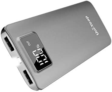 Uni-Yeap 11000mAh Battery Charger Power Bank with High Speed and Flashlight with LCD Screen Compatible for iPhone 11 Xs Xr X Eight 7 6s 6 iPad Samsung Galaxy and All Smart Phone (Grey)