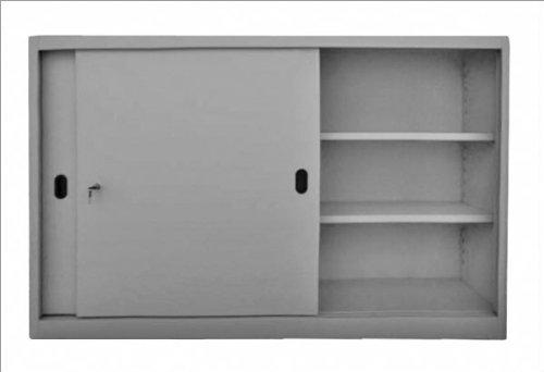 ADB Schiebetürenschrank 1050x1600x450 mm Hängeschrank | Werkstattschrank Werkzeugschrank | Büro Aktenschrank | Schrank mit Schiebetüren | Hängeschrank