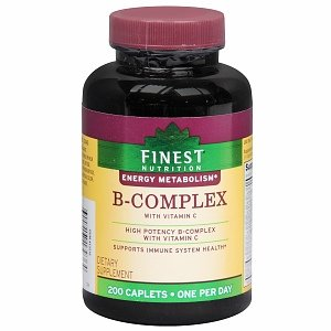 Finest Nutrition B-Complex with Vitamin C, High Potency; 200 Caplets ... (1)