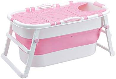大人折りたたみバスタブ大きなバスタブ小盆地折り畳み式のバスタブ (Color : Pink)