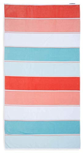 "(Caro Home Maya Beach Towel (Coral) - 100% Cotton Premium Quality X-Large Maya Striped, Orange, 36"" x 68"" Thick and Plush Combed Cotton 410 GSM)"