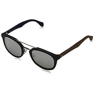 Hugo Boss Mens 0777/S Sunglasses Black Brown/Silver Mirror One Size