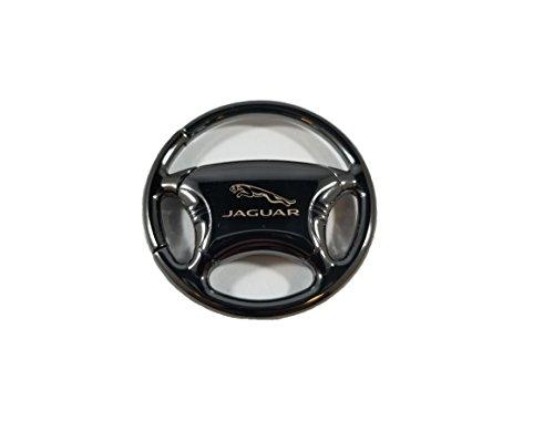 Keychain Jaguar (Jaguar Keychain & Keyring - Black Steering Wheel)