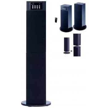 Craig Electronics CHT914C Stereo Home Theater/Tower Speaker System with Bluetooth Wireless Technology