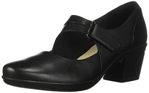 CLARKS Women's Emslie Lulin Dress Pump, Black, 8.5 M US