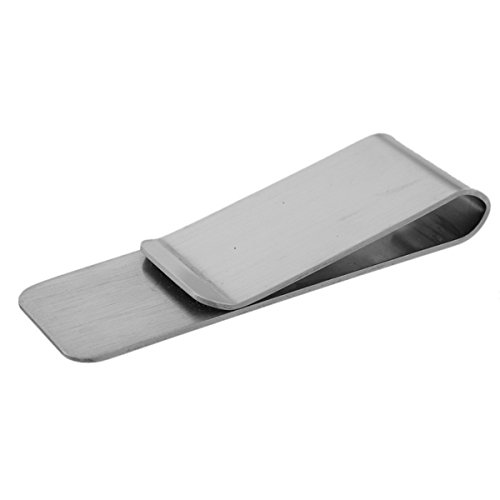 Style Business Money Engraving Clip Card Steel Slim Stainless Credit HooAMI Card Wallet 3 Holder Cash wqCx78A
