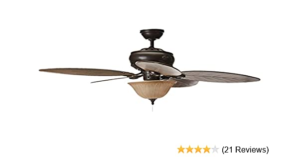 Hunter grand cayman 54 in onyx bengal damp rated ceiling fan with hunter grand cayman 54 in onyx bengal damp rated ceiling fan with light kit amazon aloadofball Choice Image