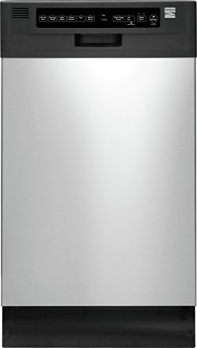 Kenmore 14663 18″ Built-In Dishwasher, Stainless Steel