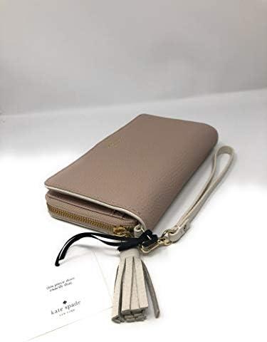 Kate Spade New York Brigitta Chester Street Leather Wristlet Wallet Cream Beige