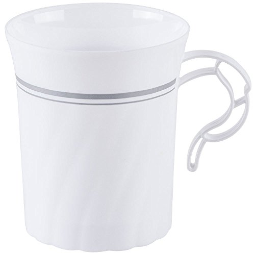 Heavyweight Plastic Coffee White silver