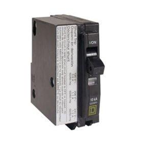 Square D 1P Shunt Trip Plug In Circuit Breaker 15A 120VAC