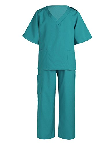 YiZYiF Children Doctor Surgeon Costumes Toddler Kids Doctor Scrub's Pretend Play Outfit for Halloween or Dress-up #1 Surgical Green 2-3 -