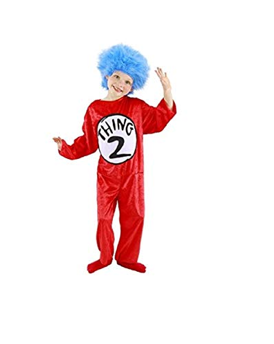 Dr. Seuss Thing 1 and 2 Kids Costume, S 4-6 by elope ()