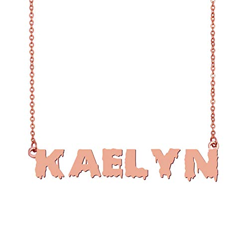 GR35Z9 Personalized Name Necklace Jewelry Kaelyn
