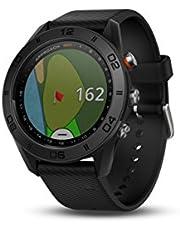 S60 GPS-golfhorloge met zwarte lederen band, 3 cm - van Garmin Approach