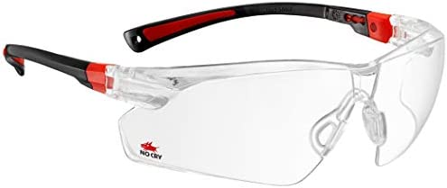NoCry Safety Glasses with Clear Anti Fog Scratch Resistant Wrap-Around Lenses and Non-Slip Grips, UV
