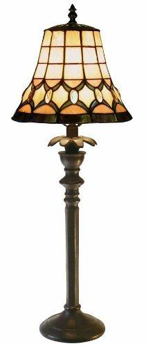 Warehouse of Tiffany 2445-BB692 Tiffany-style Jeweled Table Lamp, Yellow by Warehouse of Tiffany