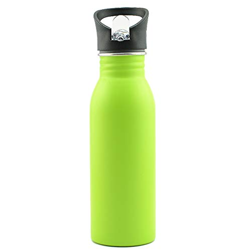 - Nargar_ Sports Bottle Stainless Steel Portable Outdoor Water Bottle 500ml/17oz BPA Free Travel Camping Warm Cold Kettle Wide Mouth Walled Vacuum Insulated Durable Kids Water Bottle (Green)