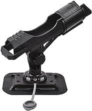 Universal Fit Fishing Rod Holder with Combo Mount for 360-degree Adjustment Kayak Fishing Boat Powerlock Rod R