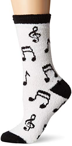 - Little Blue House By Hatley Women's Fuzzy Fleece Socks, Music Notes, One Size