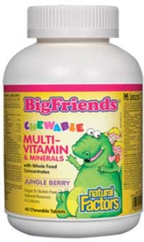 NATURAL FACTORS Multivitamin Childrens Chewable, 60 CT