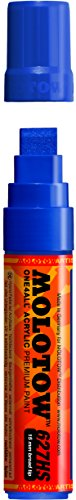 Molotow ONE4ALL Acrylic Paint Marker, 15mm, True Blue, 1 Each (627.206)