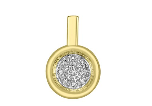 Pendentif diamant or jaune 9ct