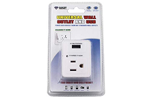 Dollar Item Direct USB Wall Charger with Outlet Plug (2 Amp) (Carded), Case of 96