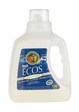 Earth Friendly Free and Clear Ultra Ecos Liquid Laundry Detergent, 100 Ounce - 4 per case. by Earth Friendly Products