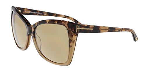 Price comparison product image Tom Ford FT0295 / S 53J Carli Tortoise Gradient Square Sunglasses- Oversized Fit