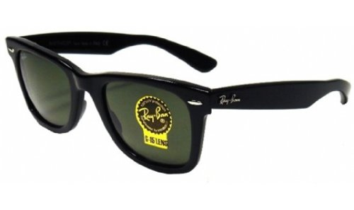 Ray-Ban Original Wayfarer Sunglasses (RB2140) Black Matte/Green Acetate - Non-Polarized - - Ray Wayfarer Polarized Rb2140 Ban