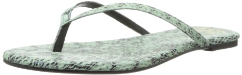 House of Harlow 1960 Women's Colton Flip Flop,Mint Snake Leather,8.5 M US