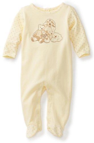 ABSORBA Unisex-baby Newborn Bear Friends Footie