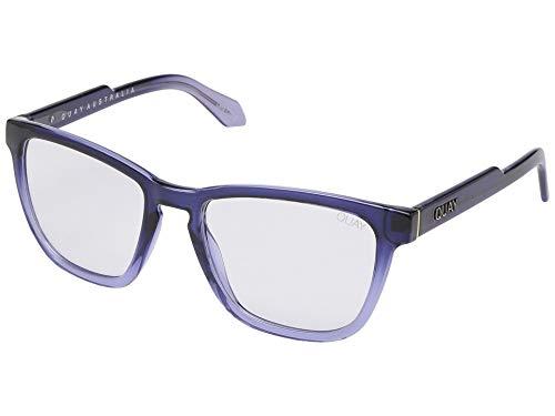 Quay Australia Women's Hardwire Blue Light Glasses (Navy Fade/Clear Blue Light Lens, One Size)