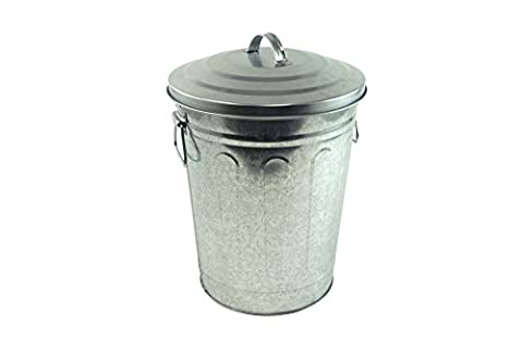 Steven Raichlen Best of Barbecue Galvanized Charcoal and Ash Can with Lid -- SR8012 - Stevens Steel Bar