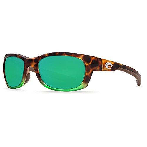 Costa Del Mar Trevally Sunglasses, Matte Tortuga Fade/Green Mirror 580 Plastic - Womens Mar Sunglasses Costa Del